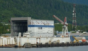 """The Ketchikan Shipyard, operated by Alaska Ship & Drydock, is one of the more visible parts of Southeast's """"blue economy."""" Photo by Ed Schoenfeld, CoastAlaska - Juneau."""