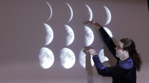 Professor explains the phases of the moon.