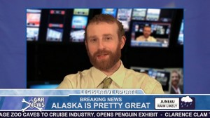 Pat Race is the host of Legislative Update, a web short satirizing the Alaska State Legislature. Photo courtesy of Alaska Robotics.