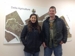 Louisa Yanes and Arthur Keyes of the Alaska Farmland Trust.