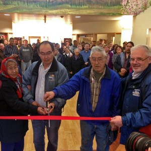 A large crowd was on hand for the Elder's Home ribbon cutting ceremony, Sept. 27. Photo by Angela Denning-Barnes, KYUK - Bethel.