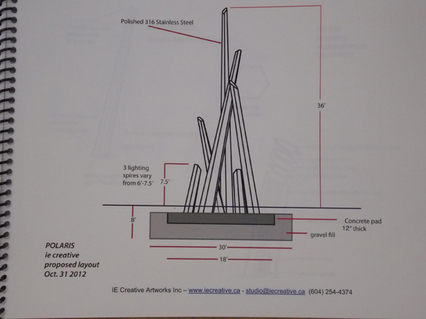 Drawing of Polaris sculpture. Photo by Dan Bross, KUAC - Fairbanks.