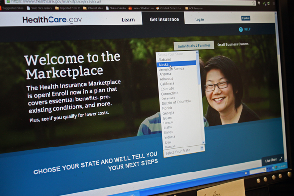 The federal insurance website is still experiencing technical difficulties, but Enroll Alaska has more than 1,700 individuals interested once it's functioning properly. Photo by Lisa Phu, KTOO - Juneau.