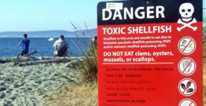 toxic shellfish sign