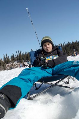 Ice fishing on Silver Lake. Photo by BLM.