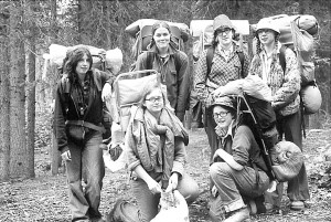 Anchorage girl scouts rebuilding the trail in the 1970's. Photo courtesy Terry Dittman.