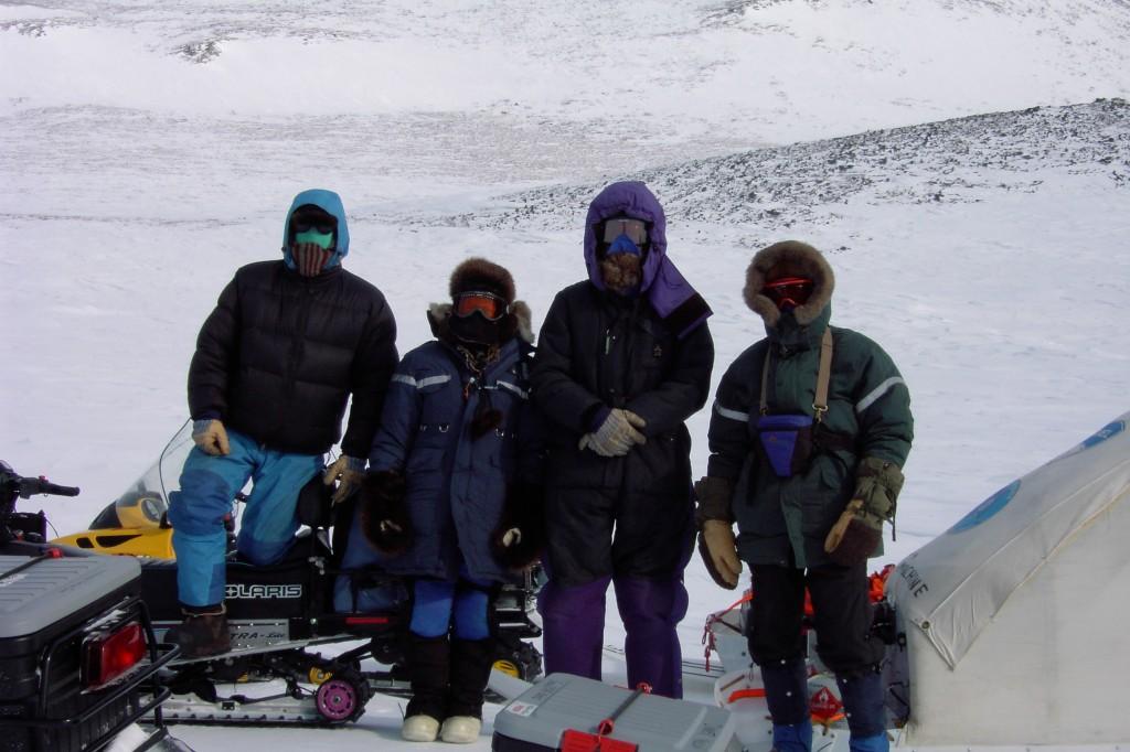2002 expedition in Arctic Alaska led by Matthew Sturm and Glen Liston. Photo courtesy of Liston.