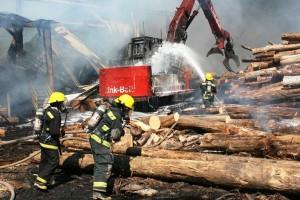 Wrangell Sawmill Burns