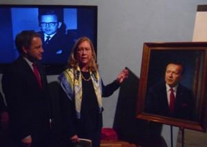 Stevens' Portrait Unveiled