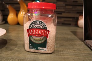 Arborio rice is a special type used specifically for risotto.