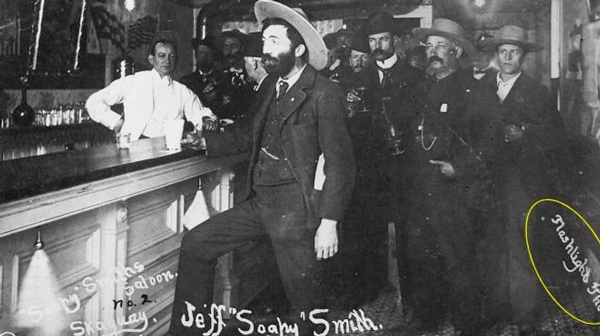 "Jefferson Randolph ""Soapy"" Smith, pictured in Skagway in 1898. Photo from  soapysmiths.blogspot.com"