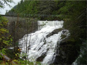 The old Whitman Lake Dam Photo courtesy Alaska Energy Authority.