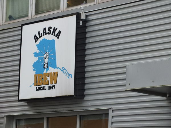 IBEW Local 1547 is one of the unions that participated in this week's training on right-to-work laws. Photo by Casey Kelly, KTOO - Juneau.