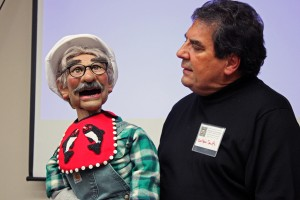 Charlie is Carlton Smith's second puppet. Smith first started doing ventriloquism 50 years ago as a ten year old boy. Photo by Lisa Phu, KTOO - Juneau.