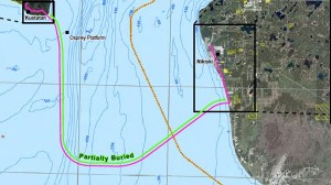 The pipeline will run 29 miles between Kustatan and Nikiski. Image courtesy of Alaska Department of Natural Resources.
