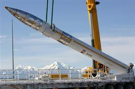 The Missile Defense Agency will be placing 14 more interceptors like this at the Fort Greely missile base by 2017. The will bring the total number of interceptors at the base to 40. Photo from the Missile Defense Agency.