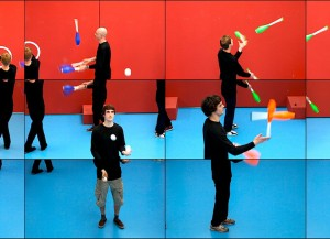 "David Hockney, ""The Jugglers"" (2012)."
