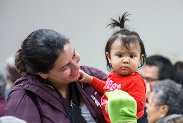 By speaking Tlingit at home, Mischa Jackson wants to give her daughter Michaelyn something she didn't have. Photo courtesy of Alfie Price.