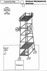 In its application to the city, Kodiak Microwave System says the tower would stand 160-feet tall.
