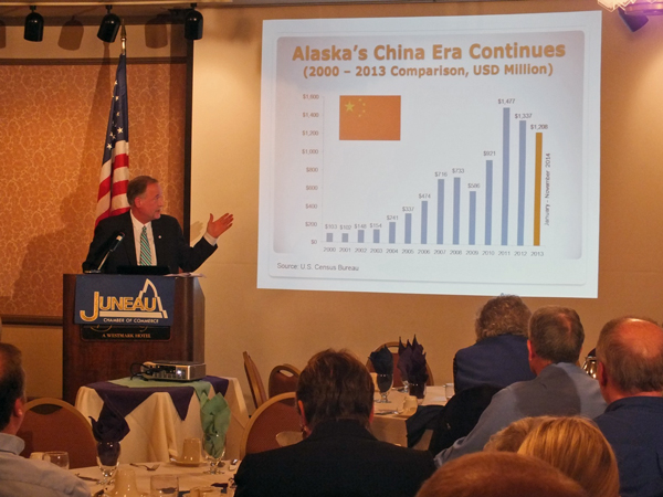 World Trade Center Alaska Executive Director Greg Wolf says China is now the largest importer of goods from Alaska. Photo by Casey Kelly, KTOO - Juneau.
