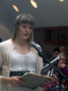 "Liz Robinson, the executive director of ""Envision Mat-Su."" Photo by Ellen Lockyer, KSKA - Anchorage."