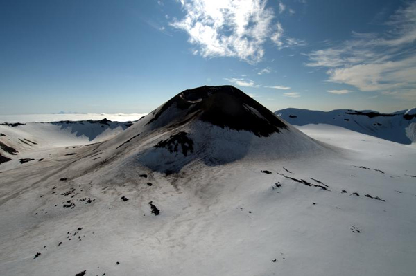 The central cone in Akutan Caldera. Photo courtesy Cyrus Read, USGS.