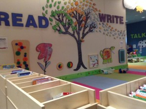 "Loussac's ""Play and Learn"" center."