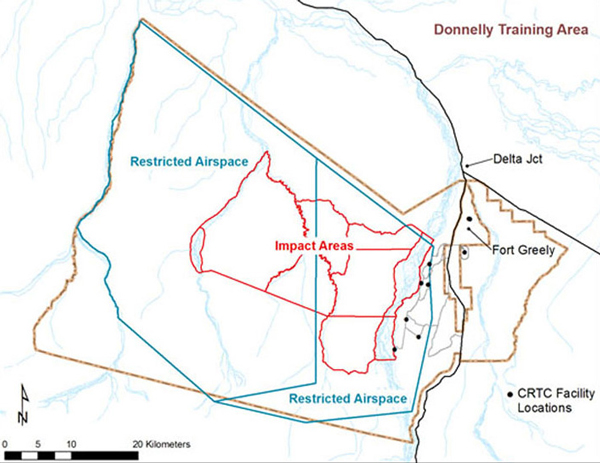 The Army has 657,000 acres of training ranges around Fort Greely, next door to Delta Junction. Because Delta is not located within a borough, the feds gives PILT funds to the state to distribute.