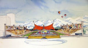 Olympic stadium planned for Anchorage's 1992 bid to host the games.