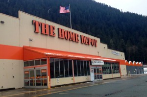 Juneau's Home Depot is looking to hire 45 seasonal employees for the spring. Photo by Casey Kelly, KTOO - Juneau.