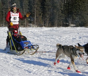 Joar Leifseth Ulsom at the 2014 Iditarod restart in Willow. Photo by Josh Edge, APRN - Anchorage.