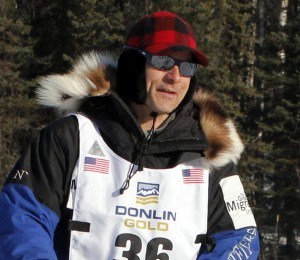 Martin Buser looks on during the 2014 Iditarod. Photo by Josh Edge, APRN - Anchorage.