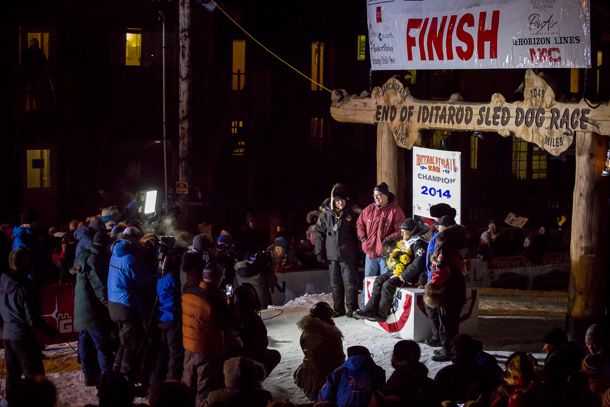 Seavey Celebrates in Nome