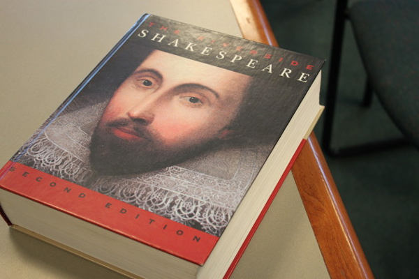 The Riverside Shakespeare is commonly used during Bard-A-Thons. (Photo by Lisa Phu/KTOO)