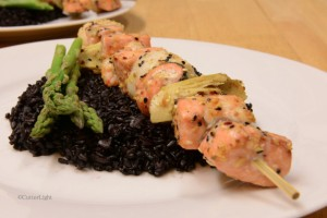 cutterlight salmon kebab