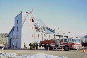 Training begins at Hagevig Regional Fire Training Center on Saturday, Feb. 1, 2013. (Photo by Annie Bartholomew/KTOO)