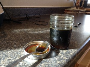 The final product - birch syrup.