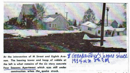 My Grandmother's house at 8th and M Streets, Anchorage, 1964