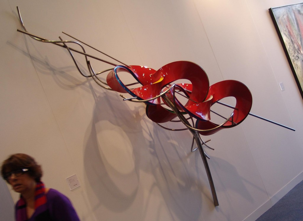"""The """"giant broach"""" spotted at The Armory Show."""