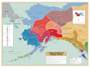 Indigenous Peoples and Languages of Alaska map by Michael Krauss. (courtesy of the Alaska Native Language Center)