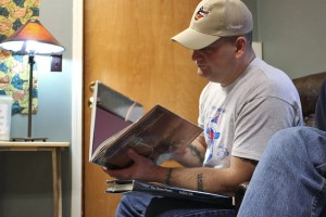 Steve Albright is a member of The Glory Hole Book Club. (Photo by Lisa Phu/TKOO)