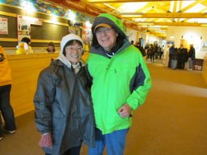 Bill and Terri Heaver are tourists from Virginia. (KRBD photo)