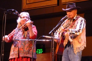 Art Johns and Nola Lamken, Tagish and Skagway Hillbillies. (Photo by Ed Schoenfeld, CoastAlaska - Juneau)