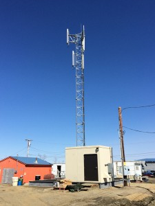 The GCI cell tower in Bethel. (Photo courtesy GCI)