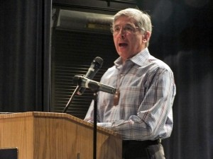 Byron Mallott, Democratic  candidate for governor, will leave Sealaska's board next month to concentrate on his campaign. (KTOO News)
