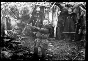 This photo of a Koryak boy with his bow and arrow in Russia, 1901, is one of about 700 that was recently digitized and made available online by the American Museum of Natural History in New York.