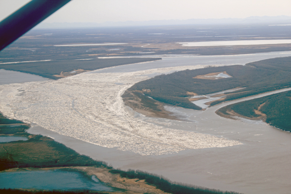 Kuskokwim and Gweek Rivers on 5/2/14 . (Photo by Ben Matheson/KYUK)