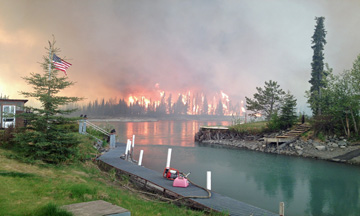 Funny River fire rages in the Kenai Keys area of the Kenai Peninsula May 25, 2014