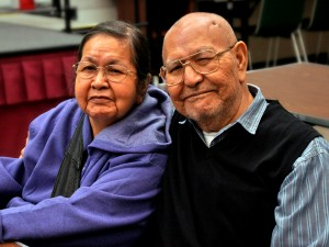 Lillian & Harvey Marvin at a Tlingit-Haida Central Council Native Forum luncheon. (Photo courtesy of Jodi Garrison)