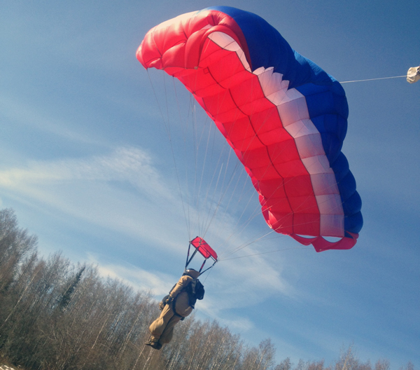 Smokejumpers complete five training jumps before the fire season flares up. (Photo by Emily Schwing, KUAC - Fairbanks)